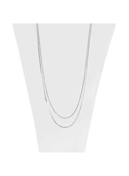 CARACOL NECKLACE / DOUBLE COLOR CHAIN ​​SILVER