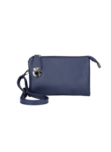 CARACOL HAND BAG MULTIPLE POCKETS BLUE