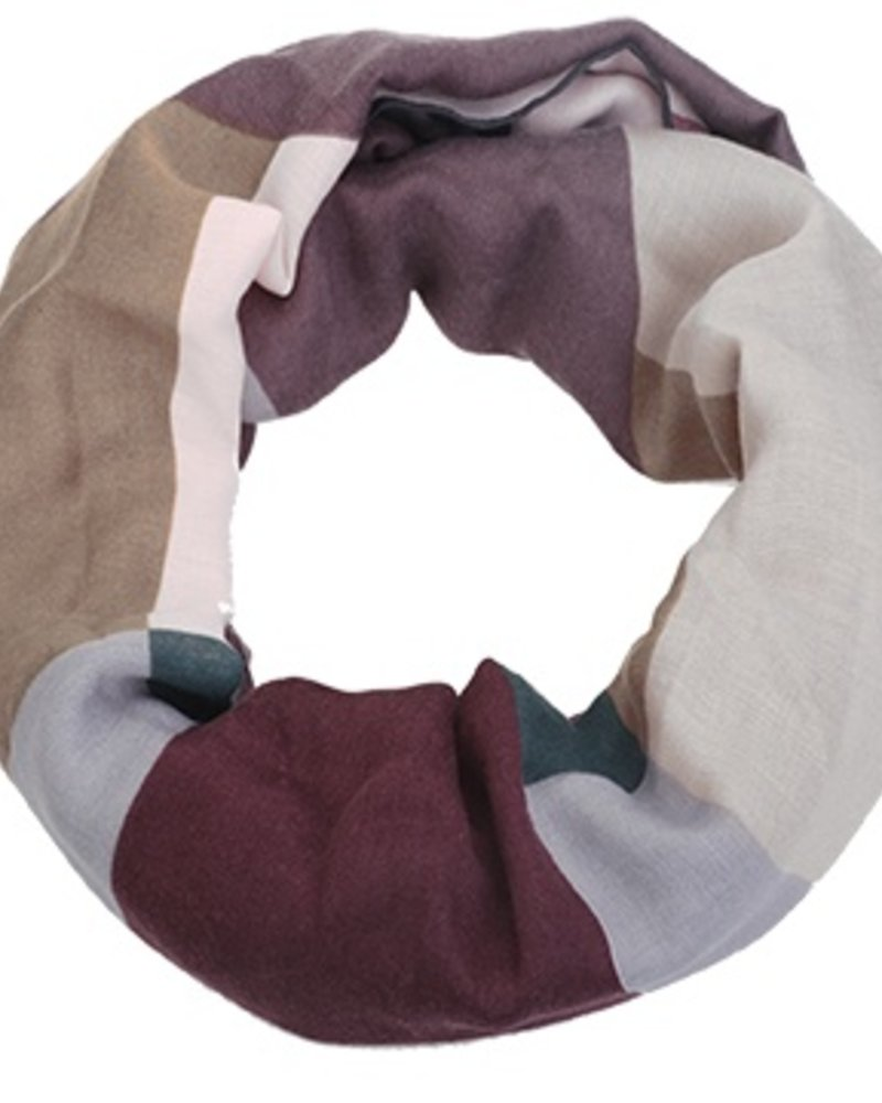 CARACOL FOULARD INFINI EXPO MULTI/VIOLET