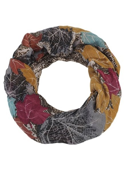CARACOL INFINITY SCARF AUTUMN MULTI / RED
