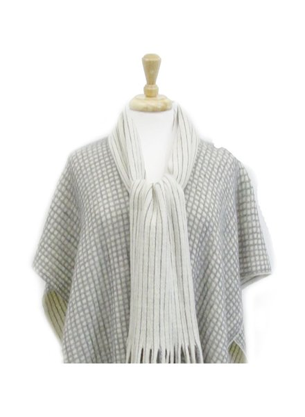 CARACOL PONCHO AND SCARF BEIGE