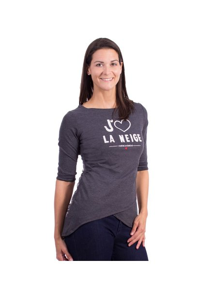 MESSAGE FACTORY TUNIQUE HEATHER CHARCOAL