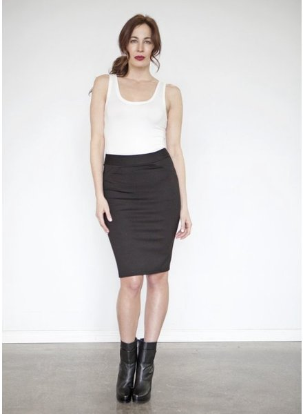 NINETY-EIGHT JUPE CLASSIC PENCIL SKIRT PONTE NOIR