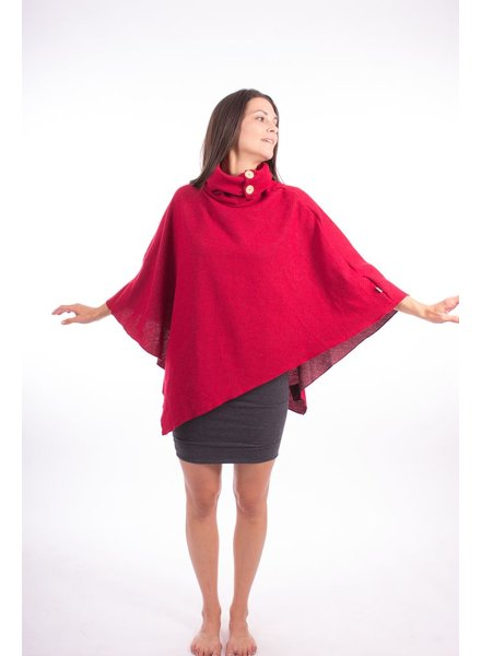 MESSAGE FACTORY MESSAGE FACTORY PONCHO ARTIC ROUGE