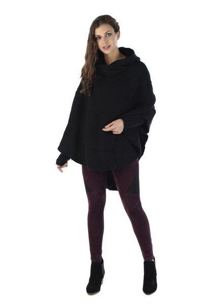 SCHWIING SCHWIING PONCHO MILLORD BLACK