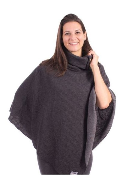 MESSAGE FACTORY MESSAGE FACTORY PONCHO ARTIC GRIS