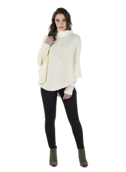 SCHWIING SCHWIING PONCHO MILLORD CREAM