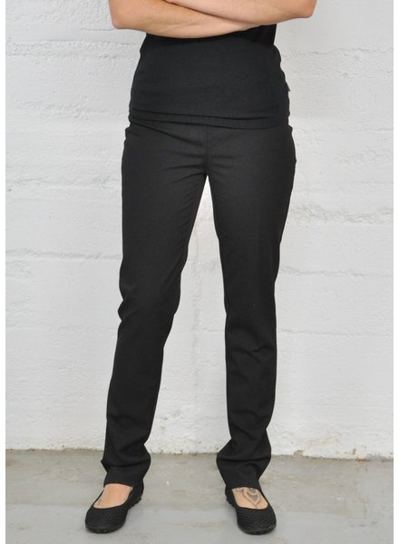 LISETTE PANTALON CORE GABY FABRIC 31'' SLIM  NOIR