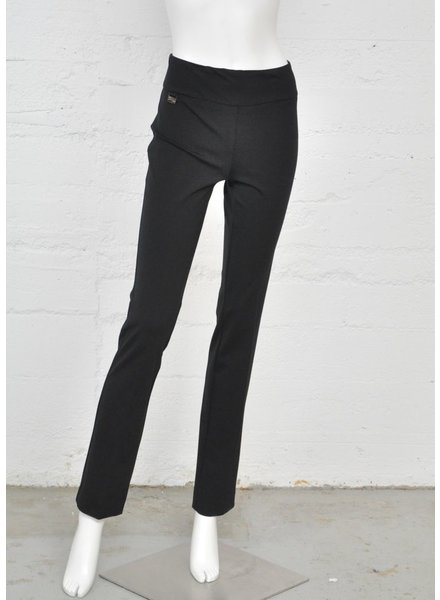 LISETTE PANTALON CORE KATHRYNE FABRIC 33'' STRAIGHT  PANT NOIR