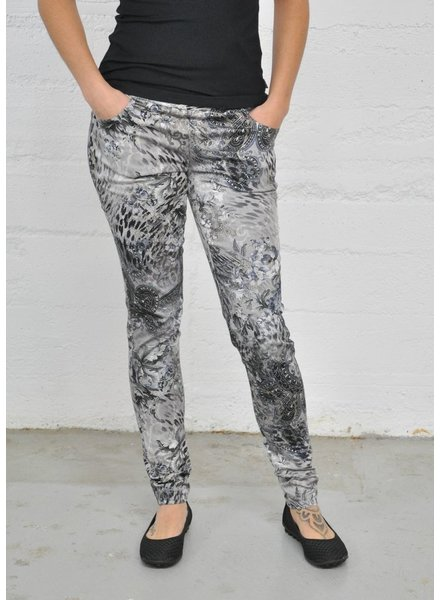 LISETTE TROUSERS NOVELTY BAROQUE ANIMAL PATTERN 31 '' LEGGINGS