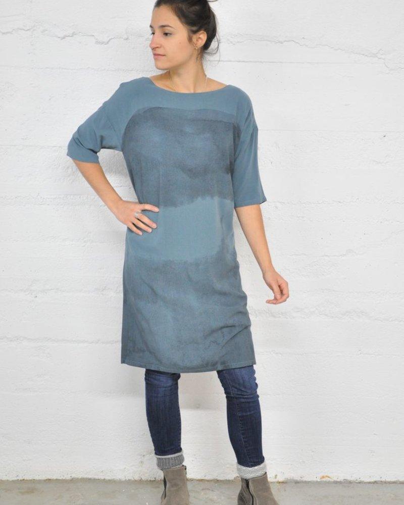 SKUNKFUNK BLUE EZKURRA DRESS