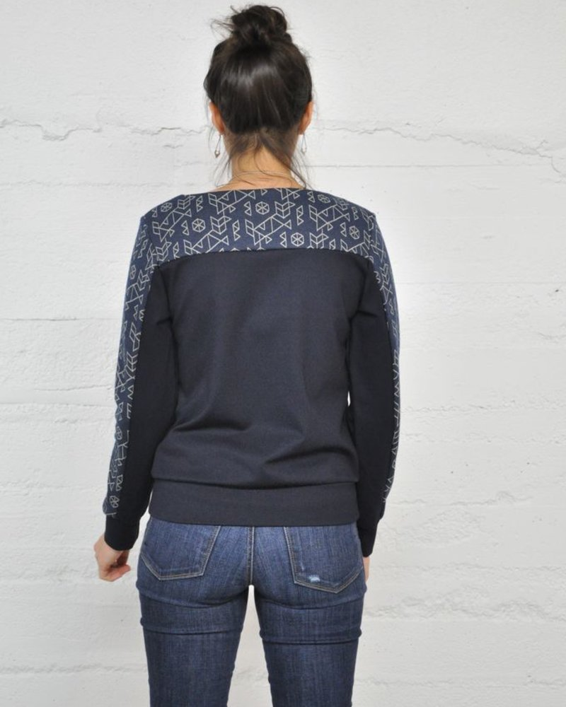 EVE LAVOIE EVE LAVOIE SWEATER SUPERNOVA GEO / MARINE