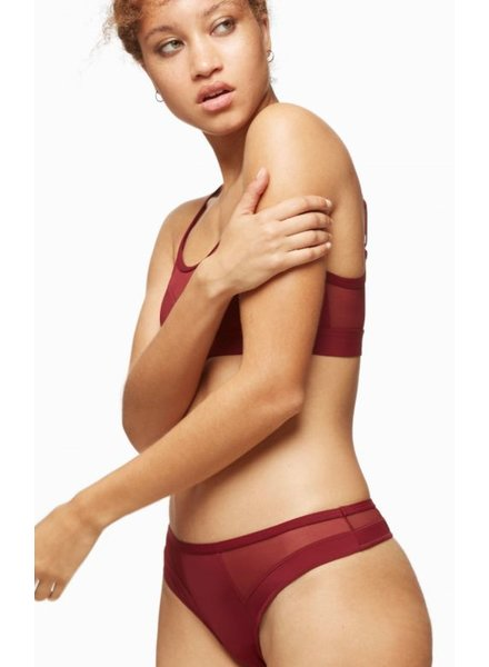 BLUSH BLUSH CULOTTE THONG BOUND PORT / BURGUNDY