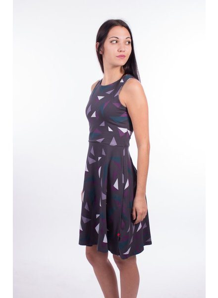 OOM OOM DRESS OLIVIA ORIGAMI GRAY / MAUVE