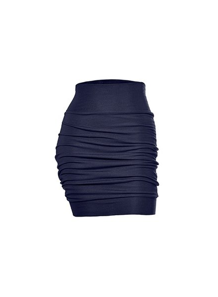 MELOW DESIGN MELOW PLEATED SHORT SKIRT INDIGO / NAVY