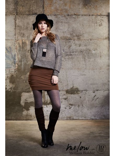 MELOW DESIGN MELOW SHORT SKIRT MUSCAD / CARAMEL