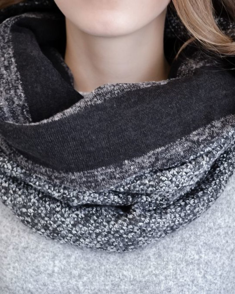 BALUCHON BALUCHON TUBE / FOULARD TWEED GRAY / BLACK T736