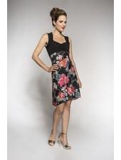 MYCO ANNA MYCO ANNA DRESS VIOLETTE BLACK/FLOWERS