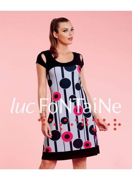LUC FONTAINE LUC FONTAINE DRESS SPIRAL PRINT