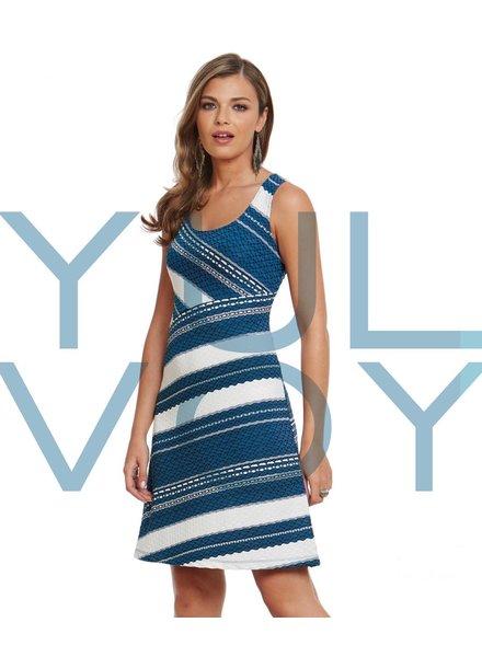 LUC FONTAINE YULVOY TAMARA DRESS MULTI