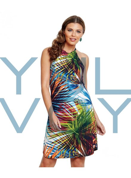 LUC FONTAINE YULVOY ROBE TROPICAL