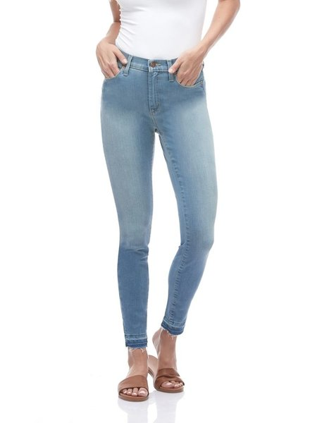 YOGA JEANS YOGA JEANS RACHEL CLASSIC RISE SKINNY CROPPED BALTIC BLUE