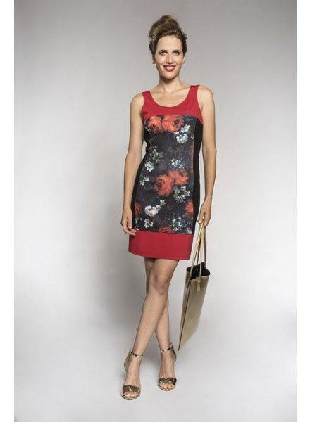 MYCO ANNA MYCO ANNA DRESS PIVOINE RED/BLACK