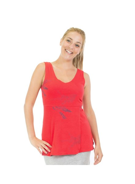 MESSAGE FACTORY MESSAGE FACTORY CAMI PENSEE TANK ENVOLEE ROUGE