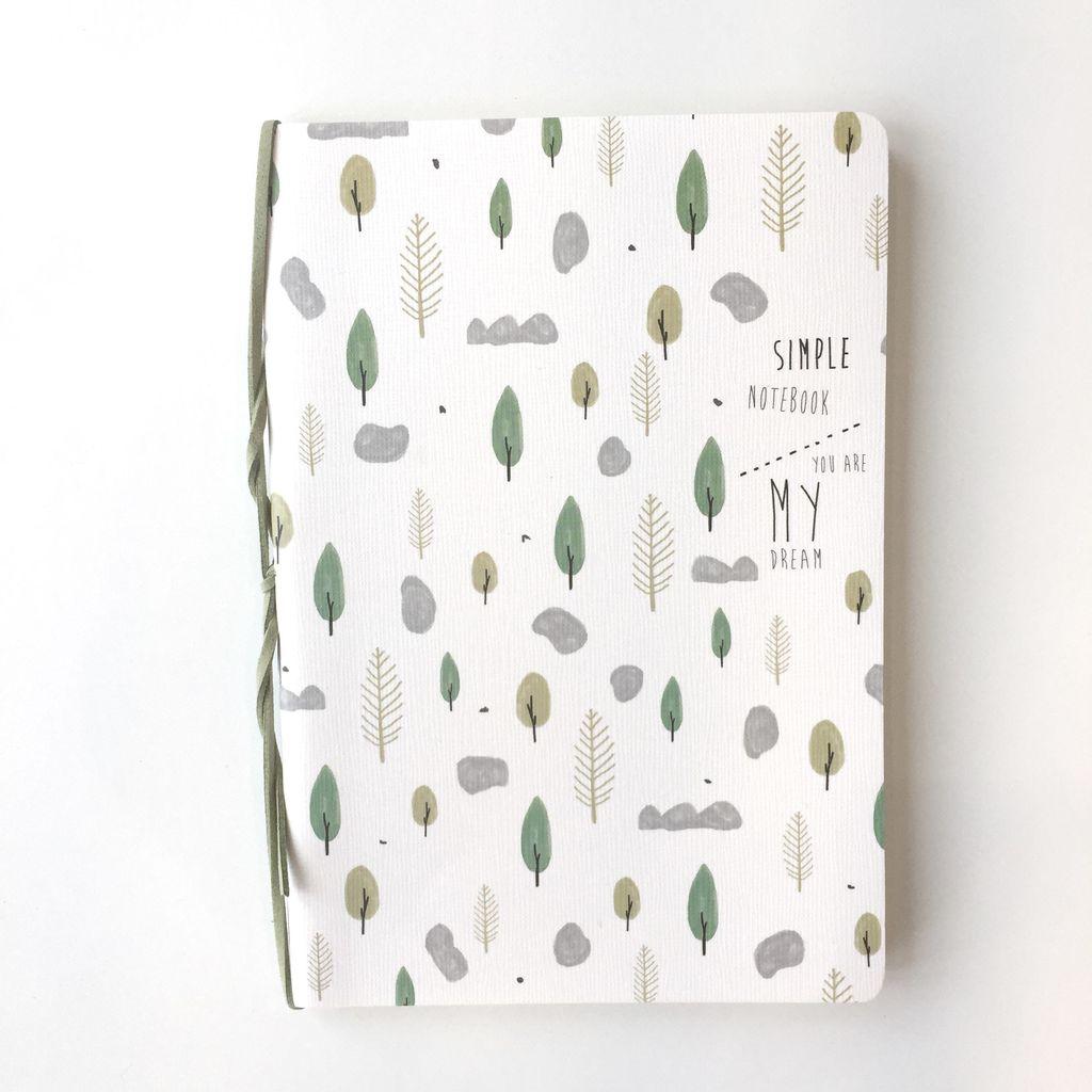 nomade cahier 5'' x 8'' lignÉ herbier - boutique nomade