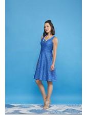 CHERRY BOBIN CHERRY BOBIN RIVERSIDE DRESS VOILIER BLUE