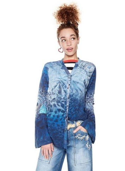 DESIGUAL DESIGUAL SHIRT BATINGA BLUE
