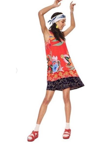 DESIGUAL DESIGUAL DRESS ELENA 3213 POPPY RED