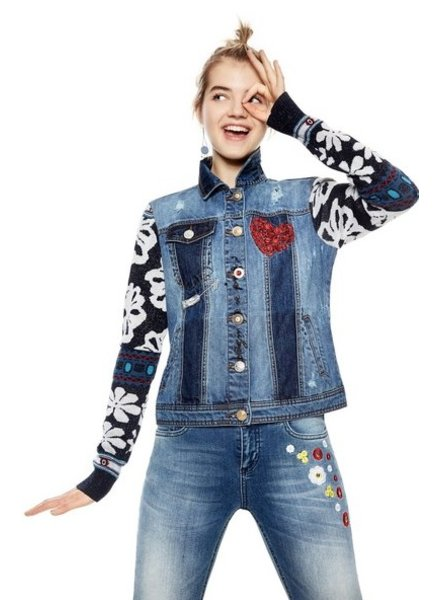 DESIGUAL DESIGUAL VESTE 5183 GAELLE DENIM PATCH