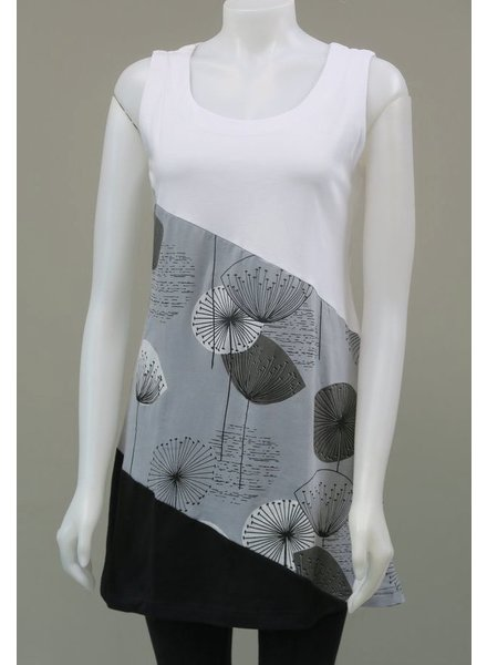 LEOPARDS AND ROSES LEOPARDS AND ROSES PISSENLIT TUNIC WHITE/GREY