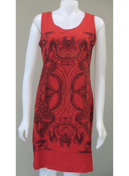 LEOPARDS AND ROSES LEOPARDS AND ROSES ROBE MANDALA ROUGE
