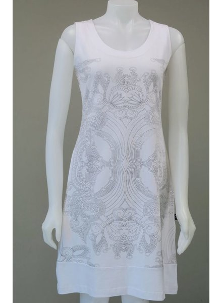 LEOPARDS AND ROSES LEOPARDS AND ROSES MANDALA WHITE DRESS