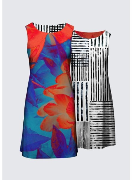 LE GALERISTE LE GALERISTE REVERSIBLE DRESS CAMILLE  BY LEAH DOCKRILL TORONTO