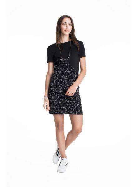 SCHWIING SCHWIING DRESS ORLANE LINES BLACK