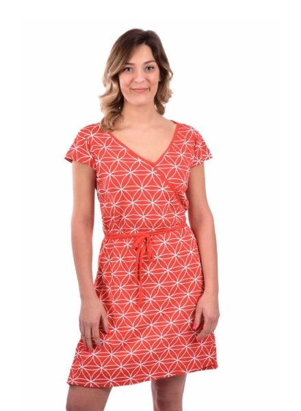 MESSAGE FACTORY MESSAGE FACTORY DRESS FLOWER OF LIFE RED