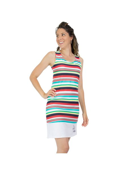 MESSAGE FACTORY MESSAGE FACTORY ZAHARA DRESS PART OF ME RAYED MULTI