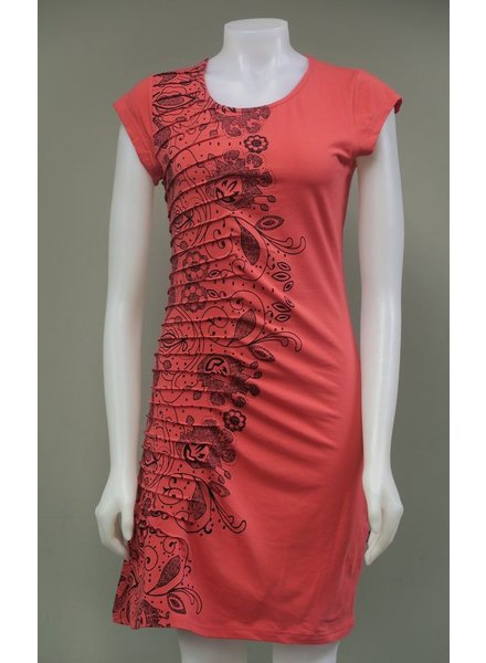 LEOPARDS AND ROSES LEOPARDS AND ROSES PLEATED DRESS PINK