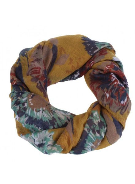 CARACOL CARACOL FOULARD FEUX D'ARTIFICES MOUTARDE