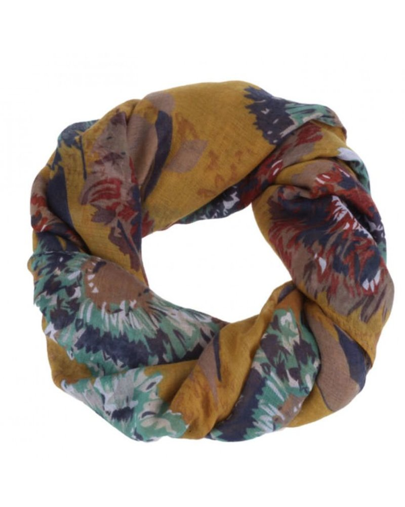 CARACOL CARACOL SCARF FEUX D'ARTIFICES MUSTARD
