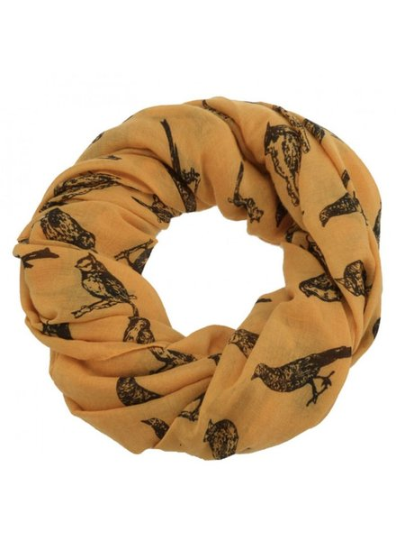 CARACOL CARACOL SCARF LES OISEAUX MUSTARD
