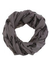 CARACOL CARACOL SCARF LES OISEAUX GREY