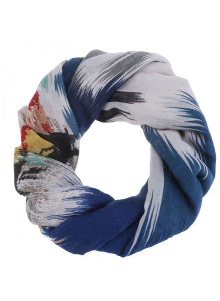 CARACOL CARACOL SCARF VERNISSAGE BLUE