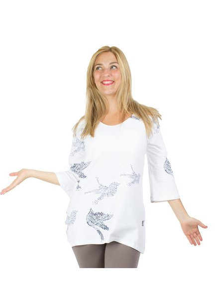 MESSAGE FACTORY MESSAGE FACTORY TUNIC CLEMENCE WHITE