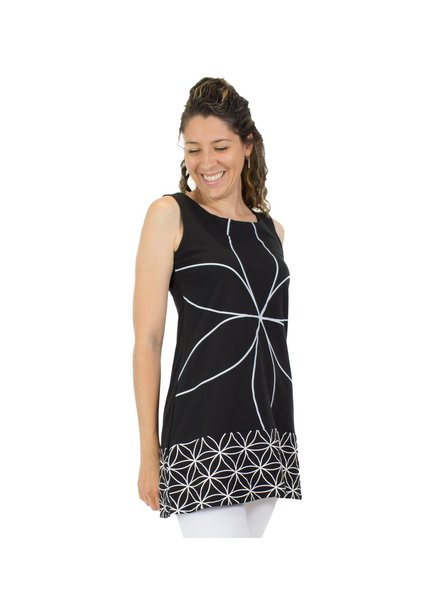 MESSAGE FACTORY MESSAGE FACTORY TUNIC FERN FLOWER OF LIFE