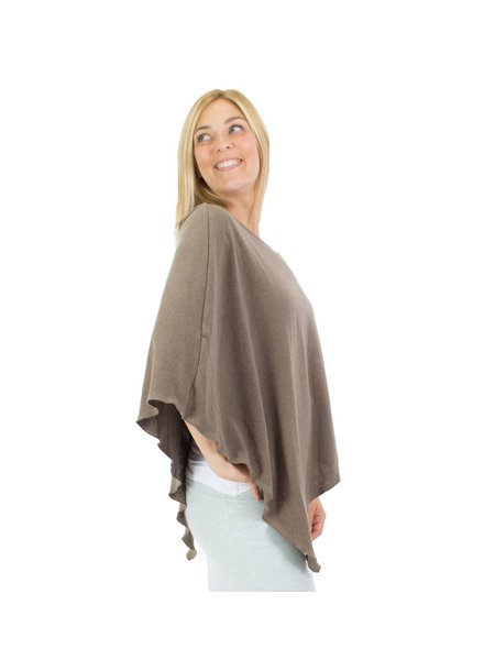 MESSAGE FACTORY MESSAGE FACTORY PONCHO PAISLEY BROWN O/S