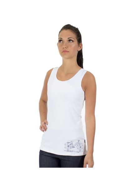 MESSAGE FACTORY MESSAGE FACTORY TANK ZINNIA MAKE DIFFERENCE WHITE